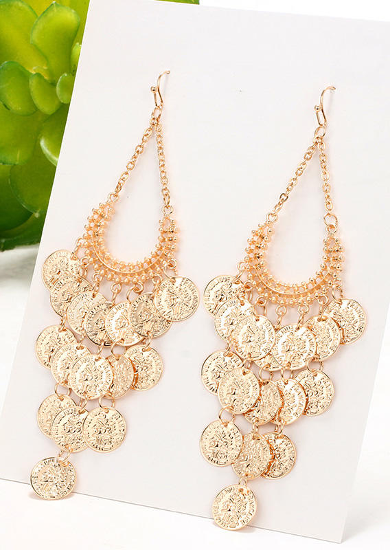 Simple Circle Hollow Out Alloy Earrings