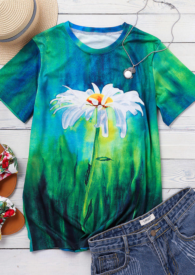 Oil Painting Daisy T-Shirt Tee