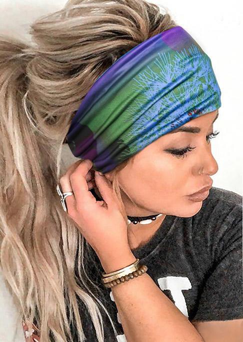 Dandelion Gradient Elastic Wide Headband