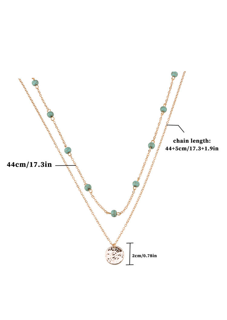 Turquoise Double-Layered Necklace