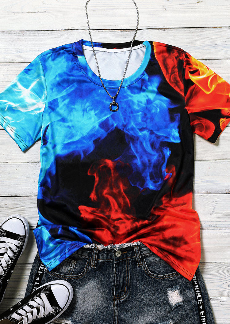 Fire And Ice O-Neck Casual Blouse