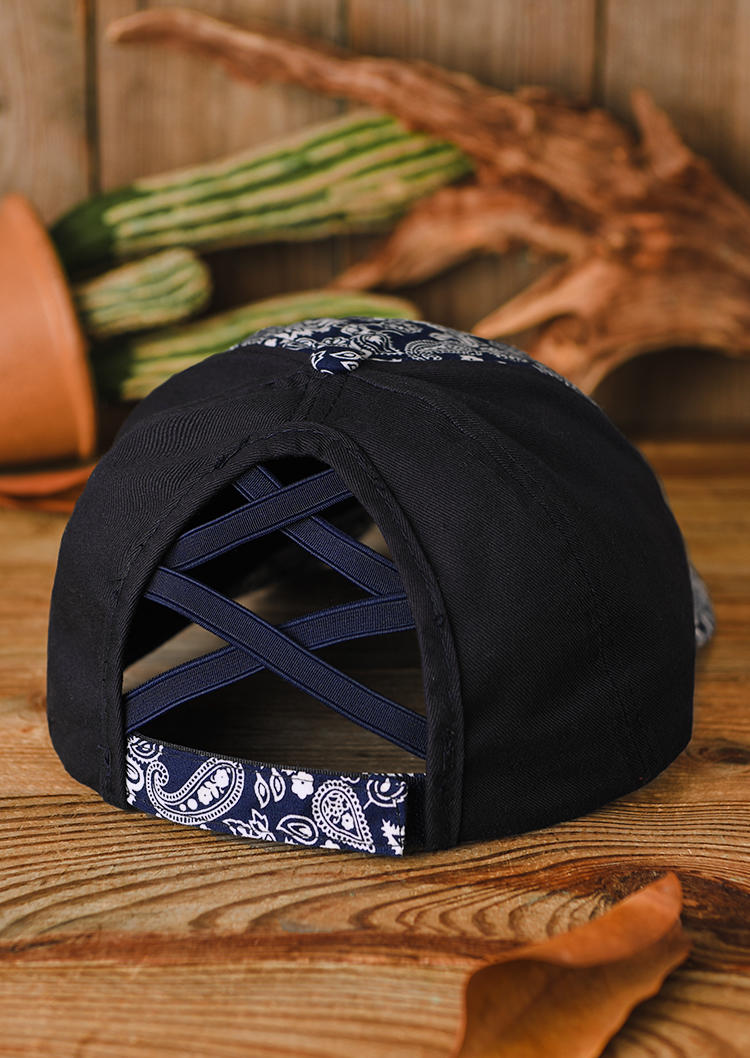 Paisley Criss-Cross Hollow Out Baseball Cap
