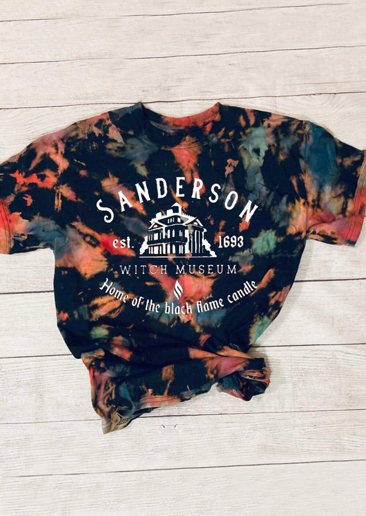 Halloween Home Of The Black Flame Candle Tie Dye T-Shirt Tee