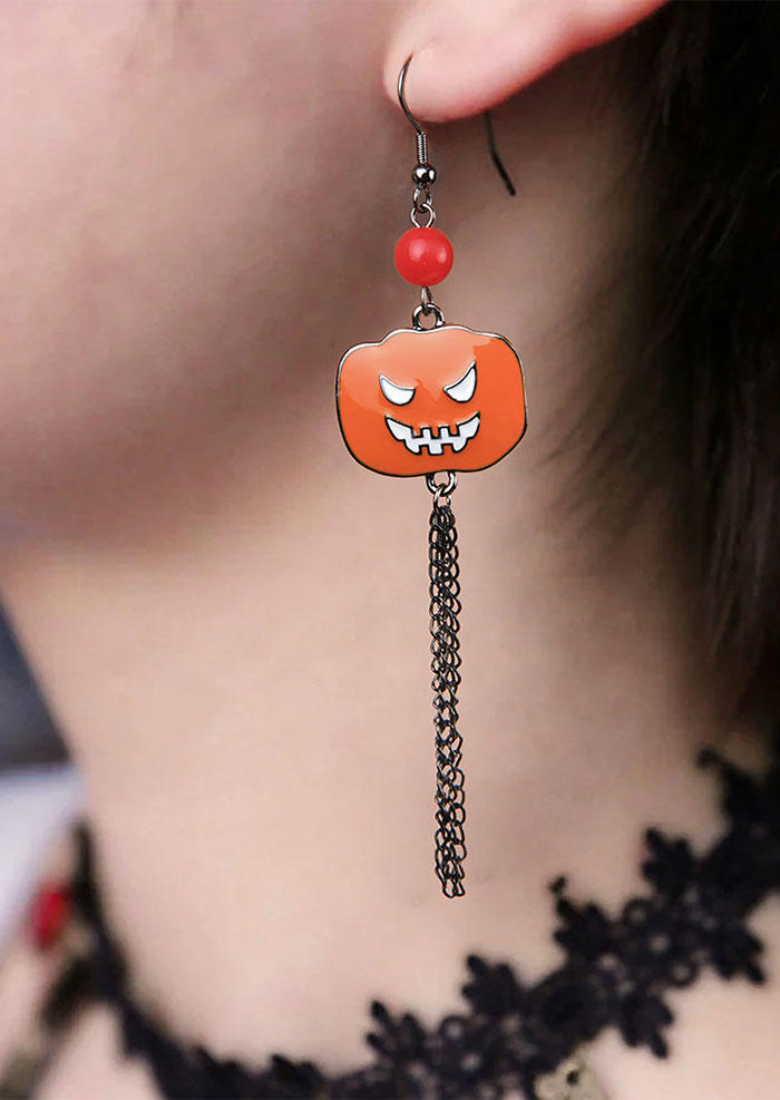 Halloween Skull Skeleton Hand Pumpkin Earrings