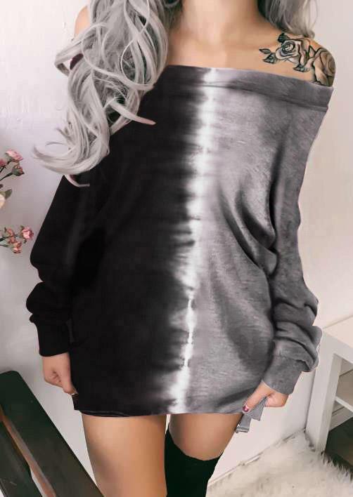Tie Dye Long Sleeve Mini Dress