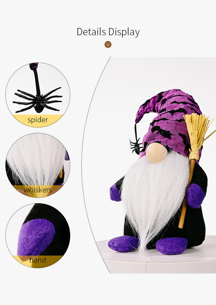 Halloween Spider Plush Decor Gnomes Doll