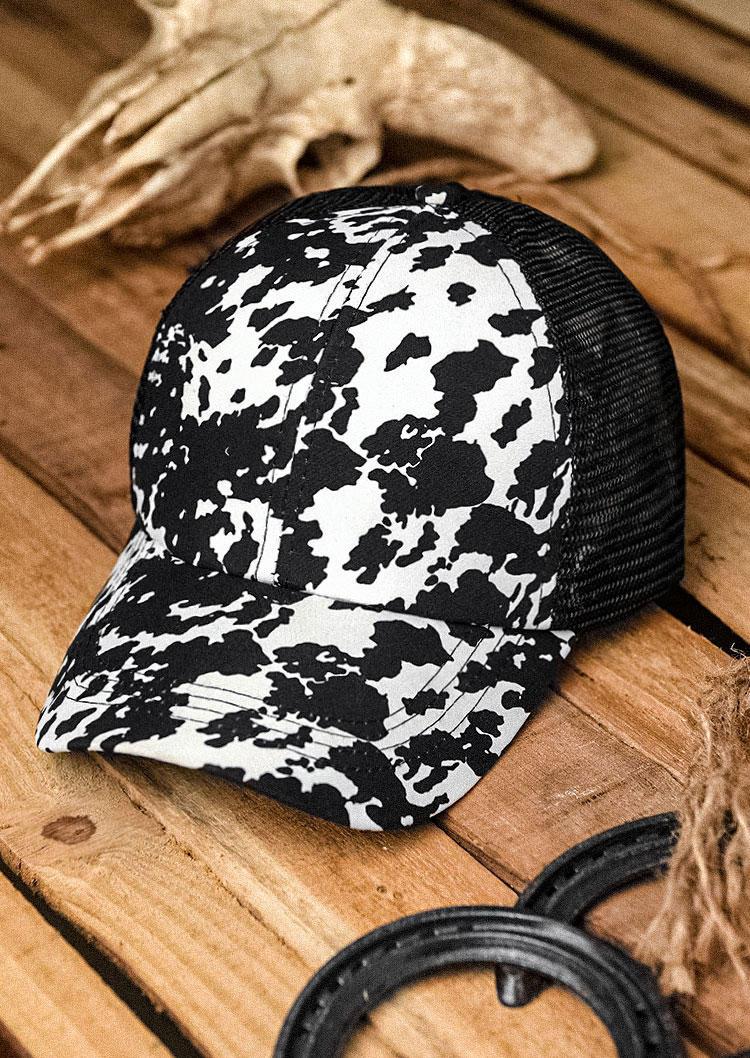Cow Criss-Cross Mesh Baseball Cap