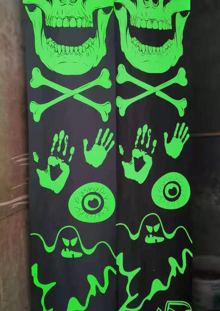 Halloween Luminous Skeleton Outdoor Porch Banner