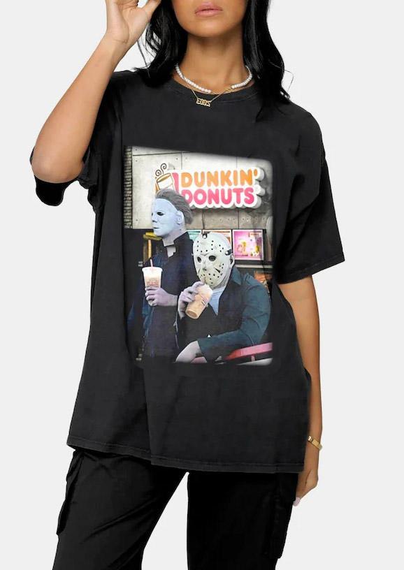 Halloween Horror Movie Character T-Shirt Tee - Black