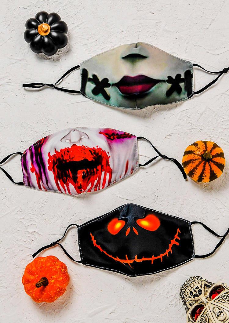 3D Halloween Lips Adjustable Mask