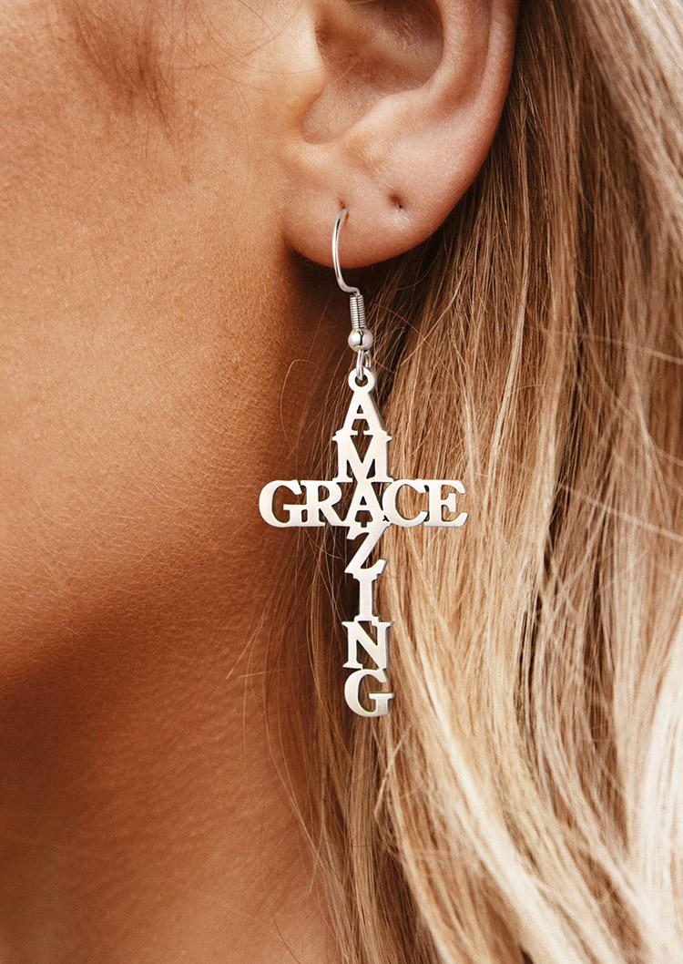 Amazing Grace Faith Hook Earrings