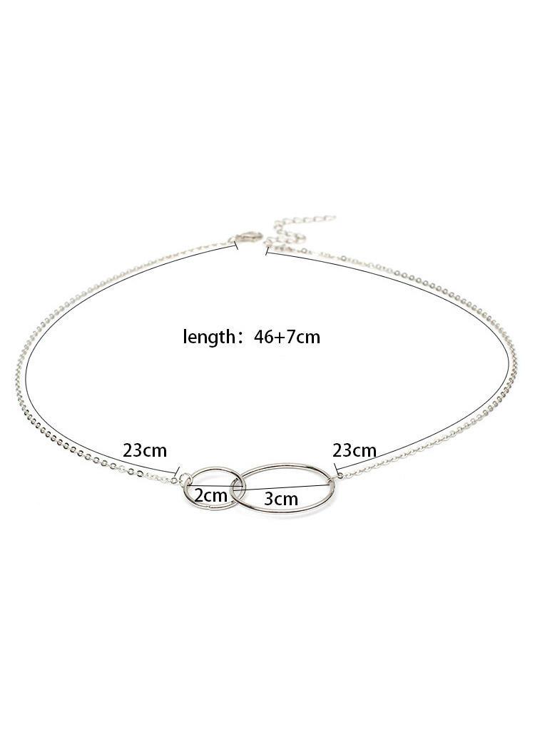Geometric Circle Alloy Pendant Necklace