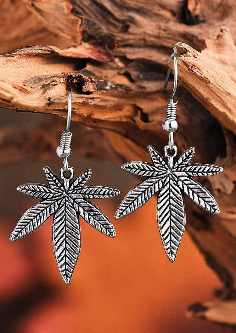 Vintage Maple Leaf Alloy Earrings