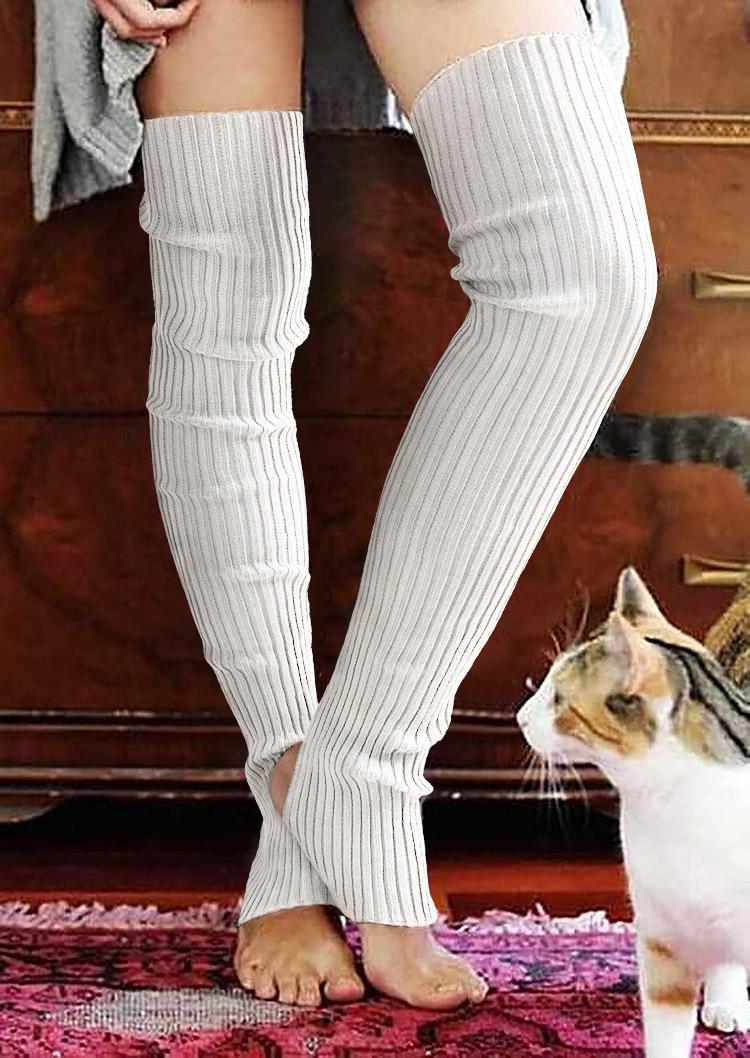 Thickened Warm Thigh-High Knitting Socks