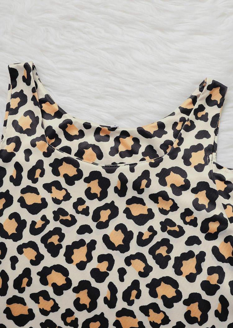 Leopard Cold Shoulder Mini Dress