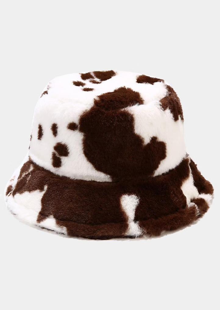 Cow Plush Warm Fisherman Hat