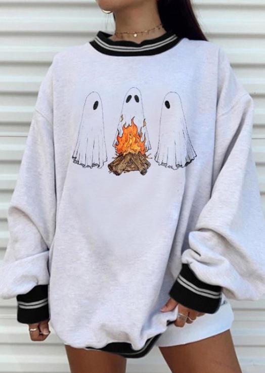 Halloween Ghost Around The Campfire Sweatshirt - Black