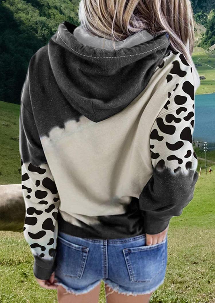 Just A Little Cow Kangaroo Pocket LongSleeve Hoodie