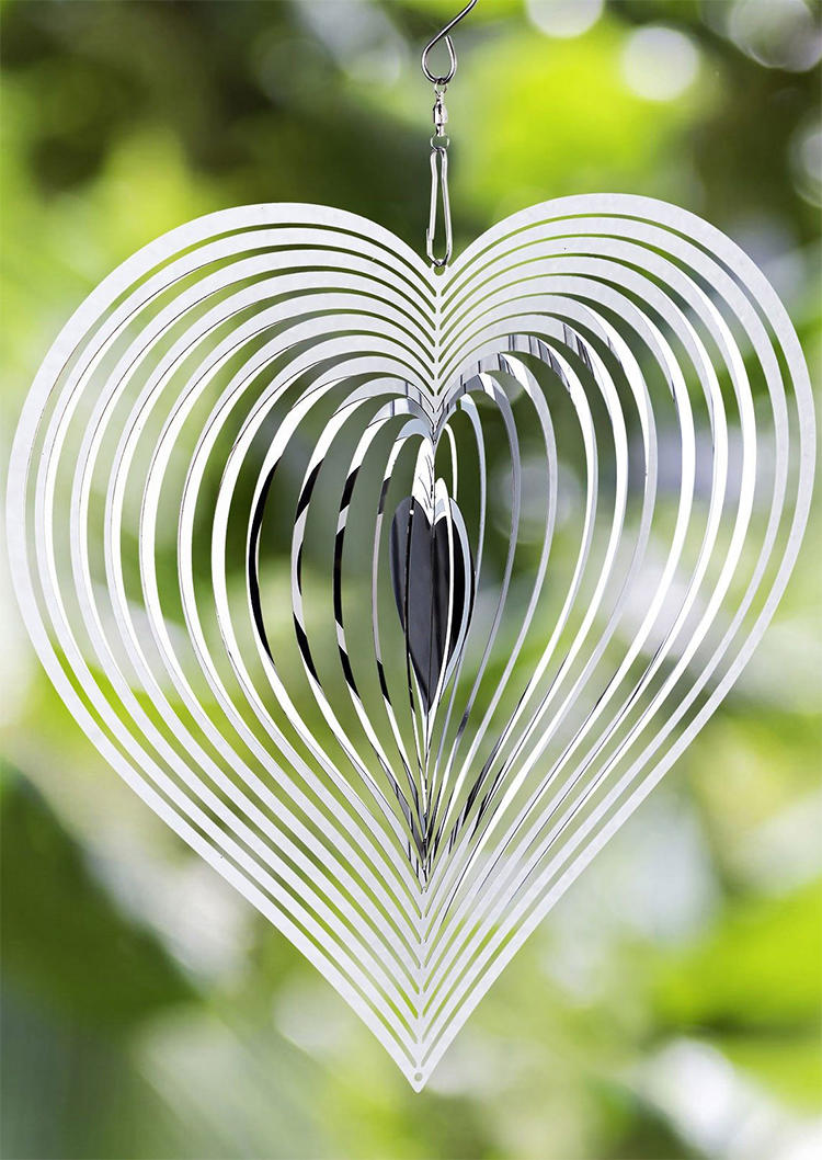 Beating Heart Metal Spinner Wind Chime