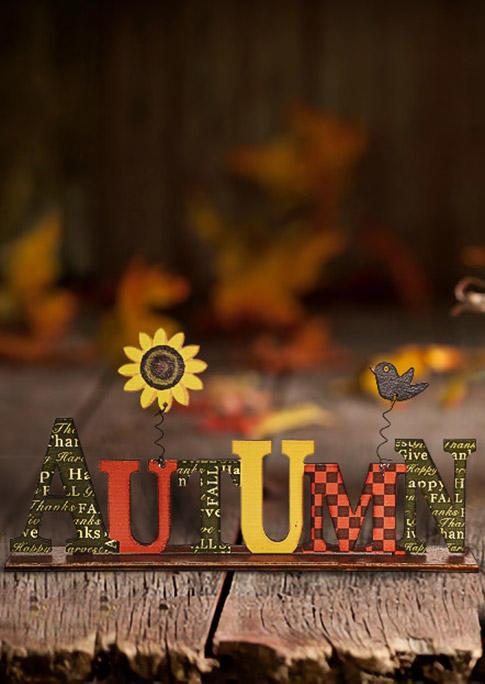Thanksgiving Autumn Harvest Pumpkin Wooden Decoration