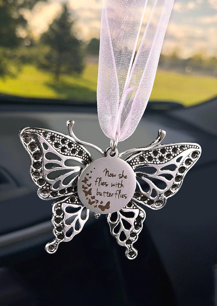 Creative Hollow Out Carving Butterfly Pendant Decoration