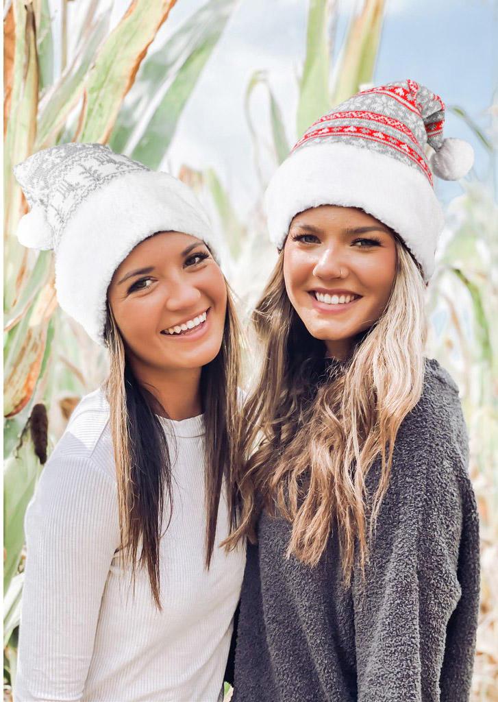 Christmas Snowflake Hairball Bonnet Beanie Hat