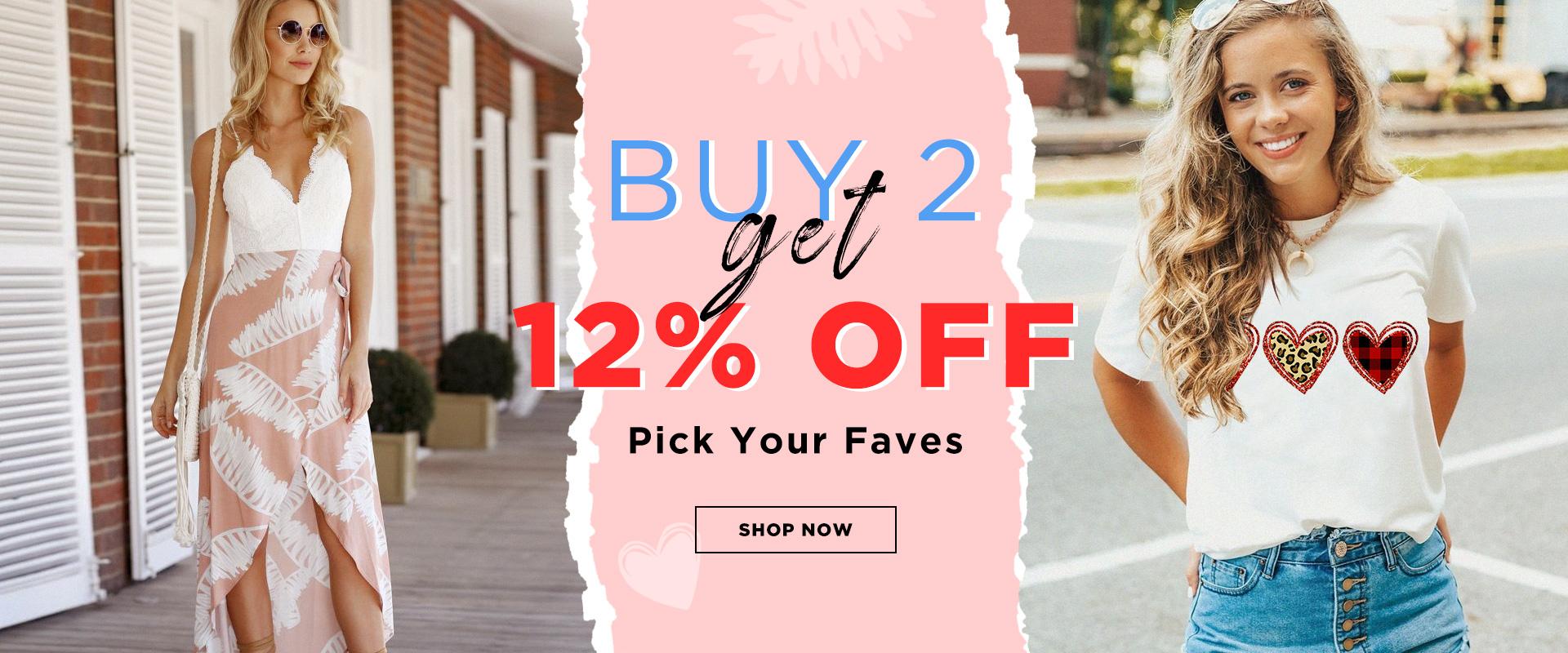 Buy 2 Get 12% Off